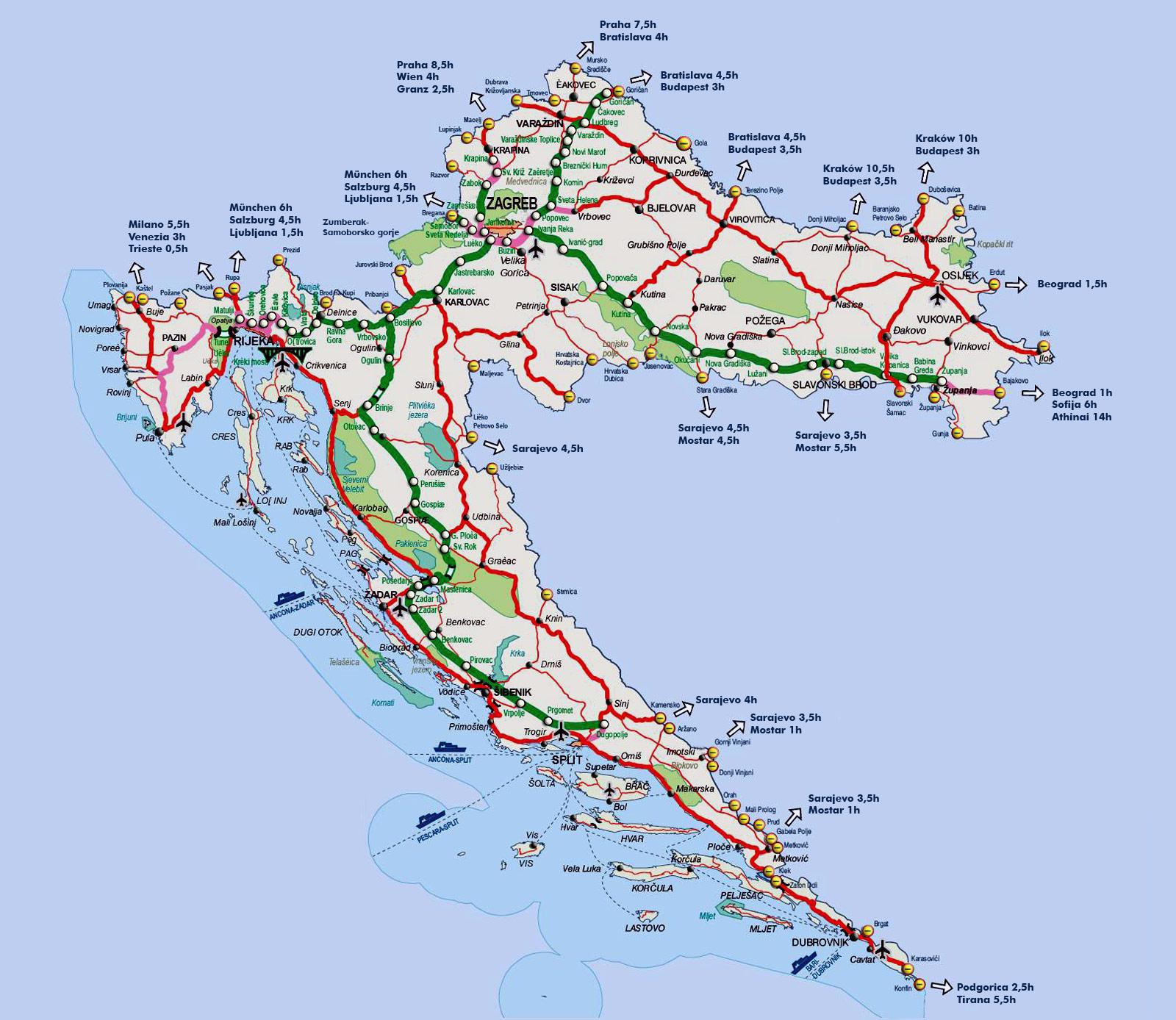 Nationalpark Plitvicer Seen Karte.Nationalpark Plitvicer Seen Kroatien